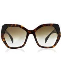 Prada - Pr16rs Irregular Framed Sunglasses - Lyst