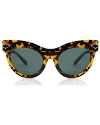 Karen Walker Miss Lark 1801751 Sunglasses Tortoise Size 52 - Green
