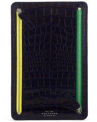 Smythson Mara Multi-zip Case - Blue