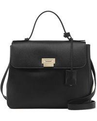Smythson Grosvenor Top Handle Bag - Black