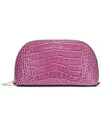 Smythson Mara Cosmetic Case - Purple