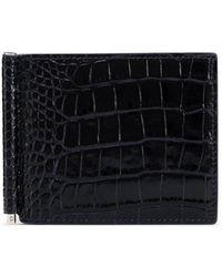 Smythson Mara Money Clip Wallet - Blue