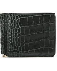 Smythson Mara Money Clip Wallet - Black