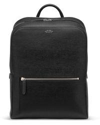 Smythson Panama Zip Around Backpack - Black