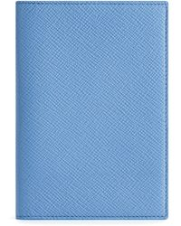 Smythson Panama Passport Cover - Blue