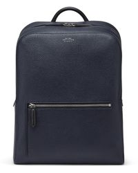 Smythson Ludlow Zip Around Backpack - Blue