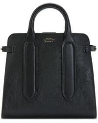 Smythson Ludlow Small Ciappa Top Handle Bag - Black