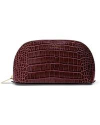Smythson Mara Cosmetic Case - Red