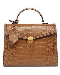 Smythson Mara Medium Coronet Top Handle Bag - Brown