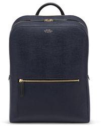 Smythson Panama Zip Around Backpack - Blue