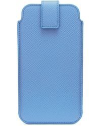 Smythson Panama Iphone 8 Case - Blue