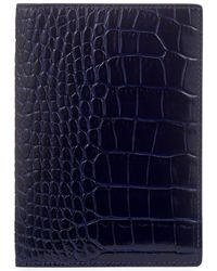 Smythson Mara Passport Cover - Blue