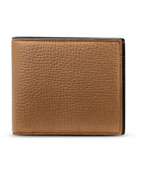 Smythson 6 Card Wallet In Large Grain Leather - Brown