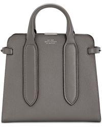 Smythson Ludlow Small Ciappa Top Handle Bag - Grey