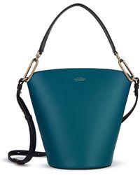 Smythson Saddlery Equestrian Bucket Bag - Blue