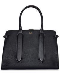 Smythson Ludlow Medium Ciappa Top Handle Bag - Black