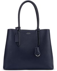 Smythson Panama Ciappa Business Bag - Blue