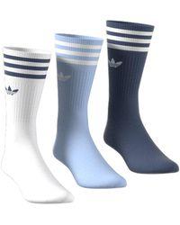 adidas Solid-crew Sokken 3 Paar - Blauw