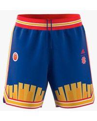 adidas Mcdonald's X Eric Emanuel Reversible Retro Shorts - Blue