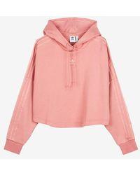 adidas Cropped Hood - Pink
