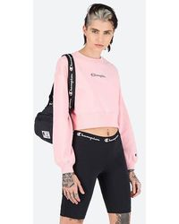 Champion Crewneck Croptop 112685 Ps024 - Pink