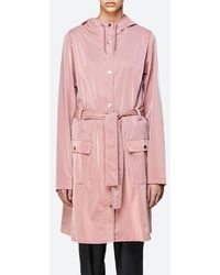 Rains Curve Jacket 1206 Blush - Pink