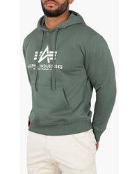 Alpha Industries Basic Hoodie 178312 432 - Green
