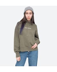 WOOD WOOD Sweatshirt Mary Logo Hoodie 12112406-2474 Dusty Green