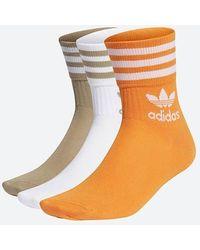 adidas Originals Mid Cut Socken CRW Sck H62014 - Orange