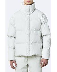 Rains Boxy Puffer Jacket 1522 Off White