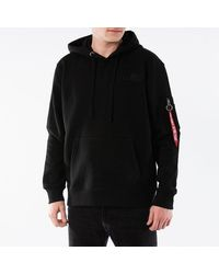 Alpha Industries Red Stripe Hoodie 178314 95 - Black