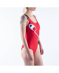 Champion Swimming Suit 113038 Rs017 - Red