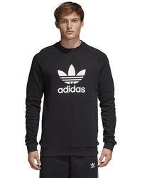 adidas Originals Trefoil Warm Up Crew - Black