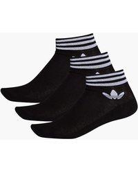 adidas Originals Trefoil Ankle Sock 3pp Ee1151 - Black
