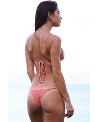 Tori Praver Swimwear - Swimwear Lahaina Bottom In Coral Dust - Lyst
