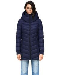 SOIA & KYO Alanis Water-repellent Lightweight Down Coat In Lapis - Blue