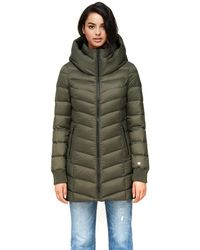 SOIA & KYO Alanis Water-repellent Lightweight Down Coat In Army - Green