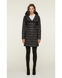 SOIA & KYO - Soia&kyo - Karelle Lightweight Down Coat With Asymmetrical Closure - Lyst