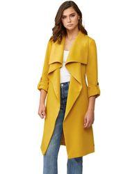 SOIA & KYO Desiree Zip - Up Hooded Raincoat - Yellow