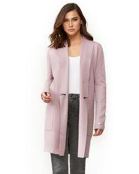 SOIA & KYO Benela Straight-fit Mid-length Coatigan In Rosewater - Multicolor