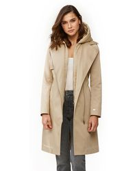 SOIA /& KYO Tahlia Womens Double-Breasted Belted Trench Coat Oatmeal Medium