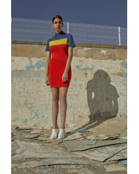 Solace London - Manon Dress Blue/yellow/red - Lyst