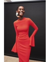 Solace London - Corvo Dress Red - Lyst