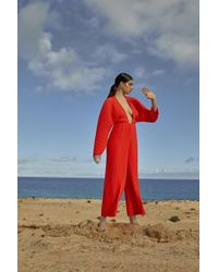 Solace London - Livia Jumpsuit Red - Lyst