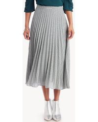 1.STATE - Fine Puppytooth Pleated Midi Skirt - Lyst