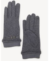 Sole Society Buckled Gloves - Gray