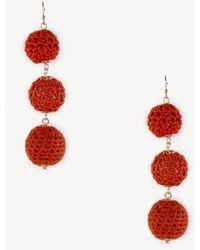 Sole Society - Crochet Tiered Earrings - Lyst