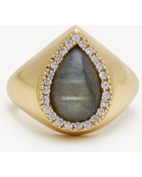 Sole Society - Spring Waters Crystal Statement Ring - Lyst
