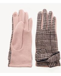 Sole Society Houndstooth Glove W/ Knot Detail - Pink