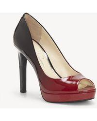 Jessica Simpson - Dalyn Peep Toe Sandal - Lyst
